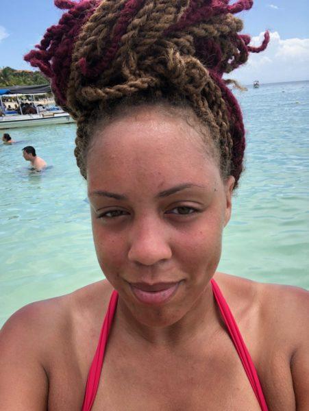 Lady on Honduras Beach