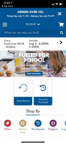 Food Lion to Go App