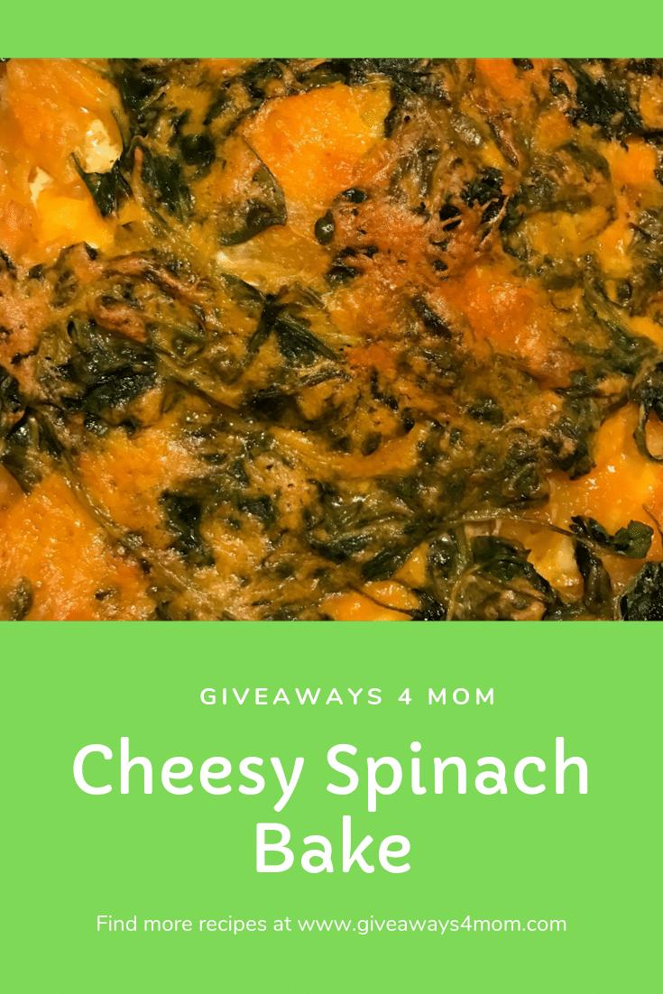Cheesy Spinach Bake Recipe