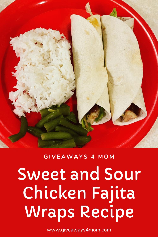 Sweet and Sour Chicken Fajita Wraps Recipe